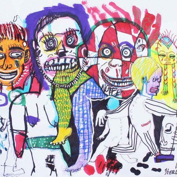 """""""S/T 27"""" / 35x41 cm / Acrílico y crayón sobre papel"""