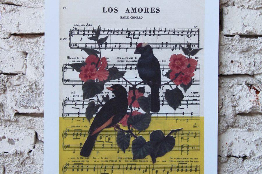 """""""Los amores"""" / A3 /  Collage"""
