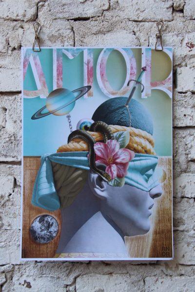 """""""Amor"""" / A3 /  Collage Dígital"""
