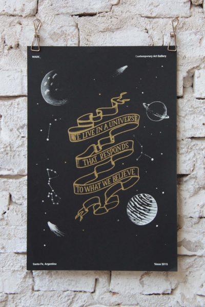 """""""Universo"""" / A3 / Serigrafía"""