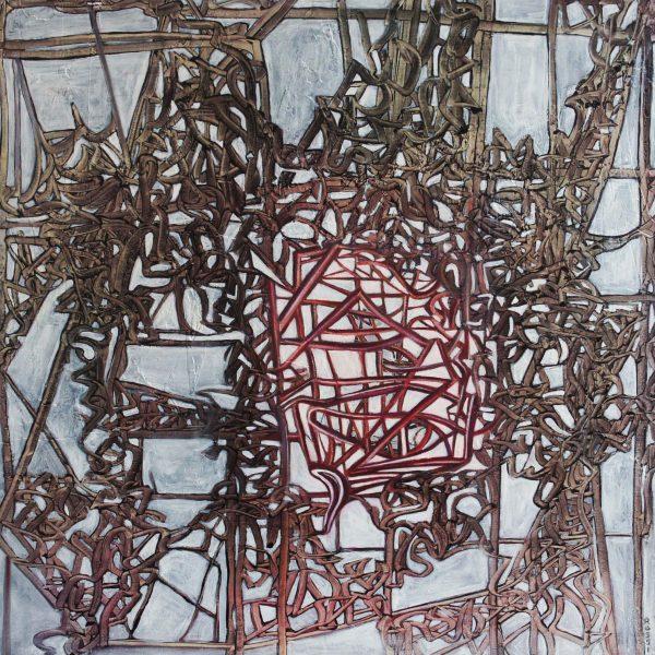 """""""Jaula del alma"""" / óleo sobre bastidor / 80x80 cm"""