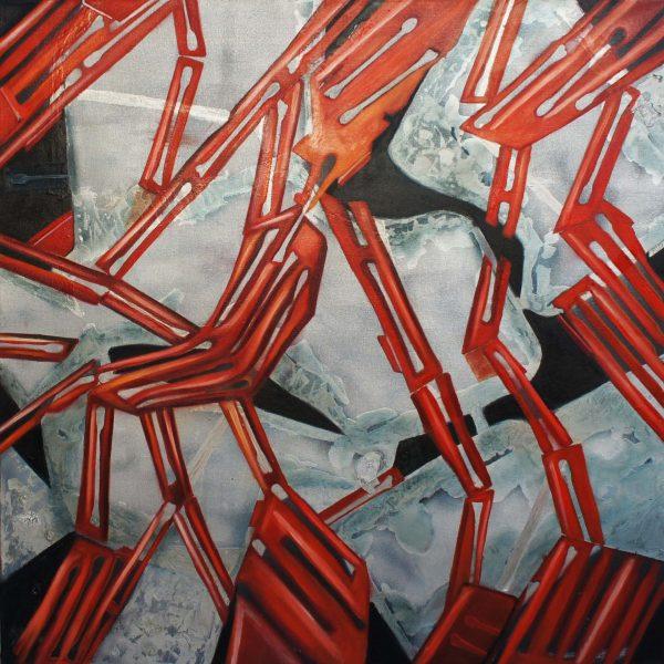 """Resistencia"" / óleo sobre bastidor / 100x100 cm"