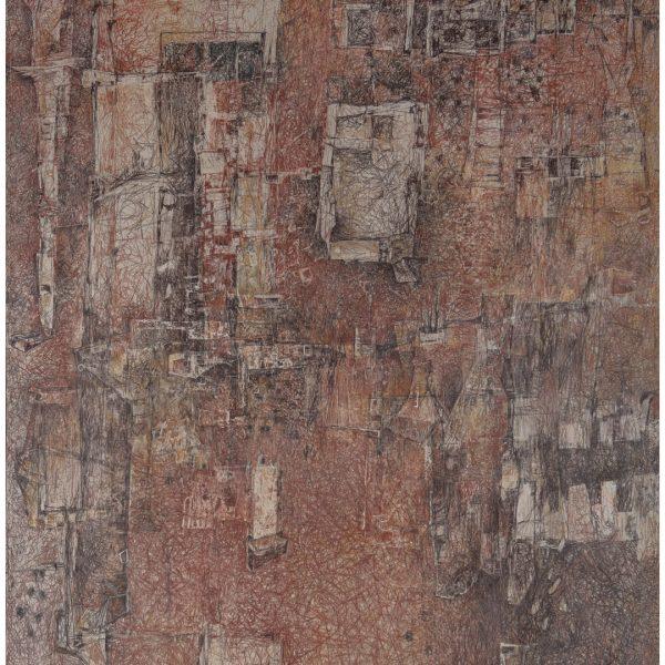 """""""El Arpón y la palabra"""" / lápiz color sobre papel / 36x18 cm"""