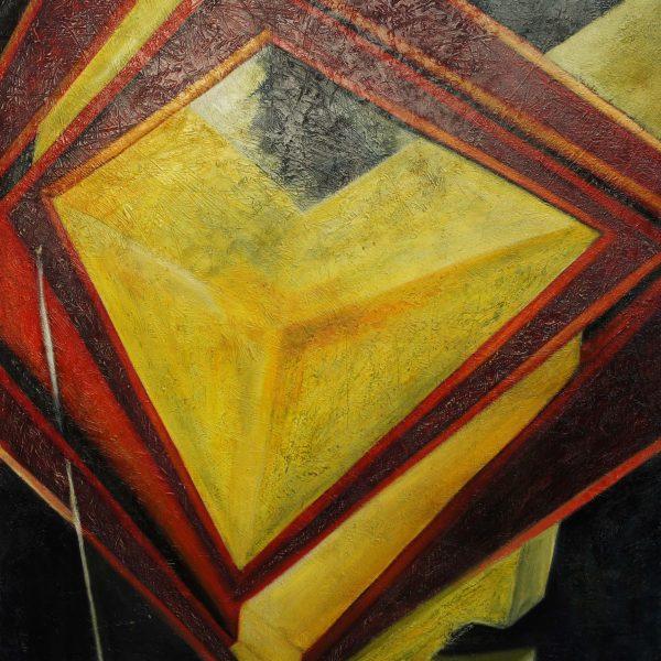 """""""Rubí emergente"""" / óleo sobre bastidor / 100x90 cm"""