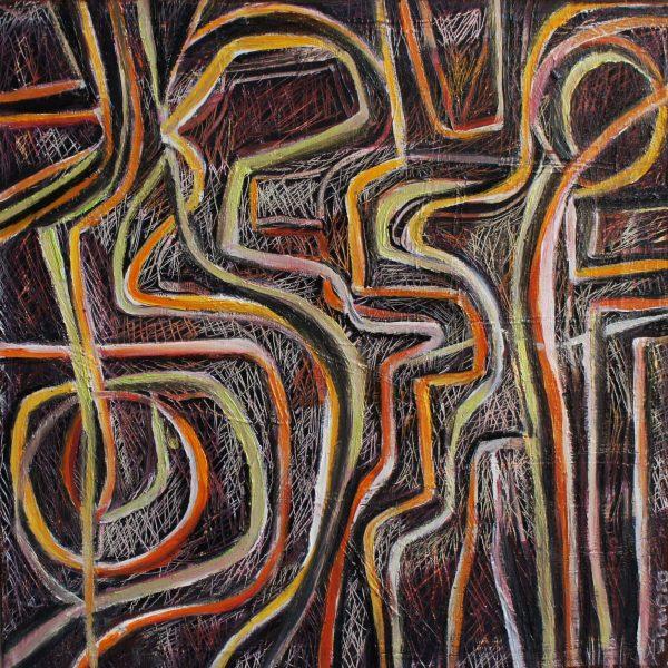 """""""Rupestre"""" / óleo sobre bastidor / 30x30 cm"""