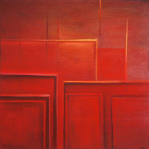 """""""Tiempo de cosecha"""" / óleo sobre bastidor / 80x80 cm"""