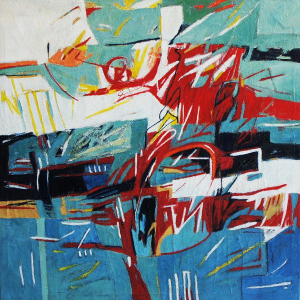"""Transatlántico"" / óleo sobre tela / 110x110 cm"