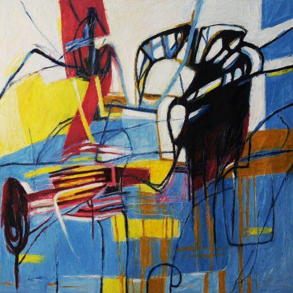 """""""Urdimbre"""" /óleo sobre tela/ 80x80 cm"""