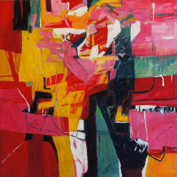 """""""Vigilante"""" /óleo sobre tela/ 100x100 cm"""