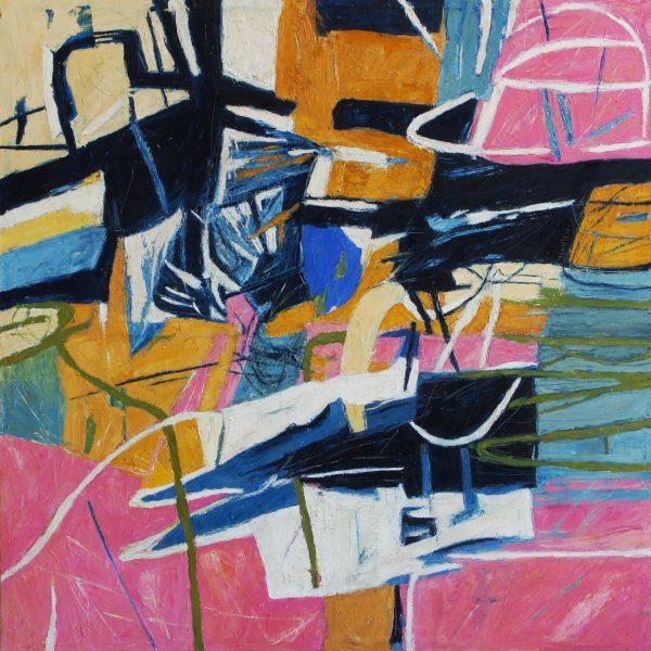 """""""Cuando el rio suena"""" /óleo sobre tela/ 100x100 cm"""