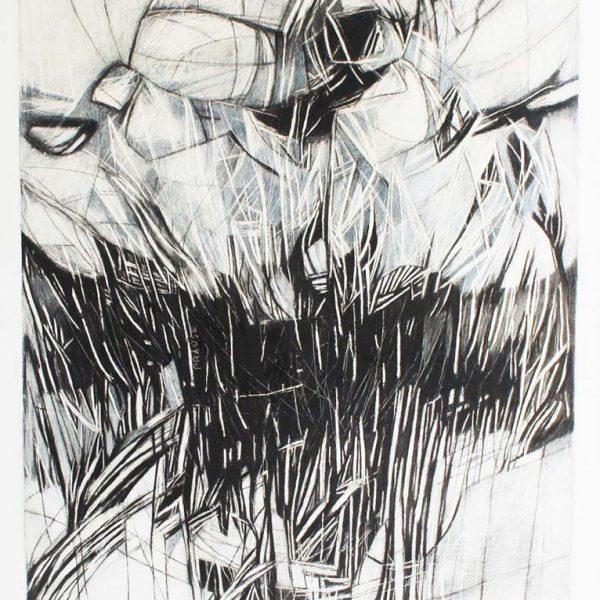 """Velos"" /grafito sobre madera/ 80x100 cm"