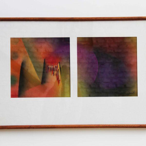 """""""S/T 9"""" / técnica pastel / enmarcada / 70x50 cm"""