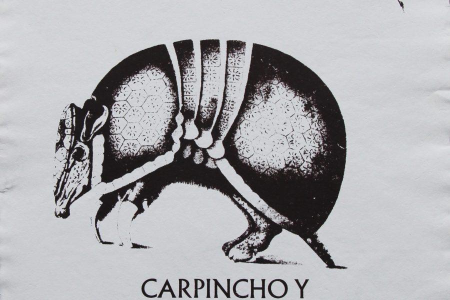 Carpincho y Tatu Carreta / a3 / Sobrerelieve